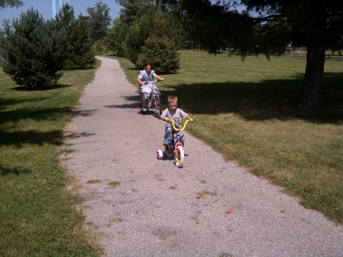 Riding Bikes on the River Greenway